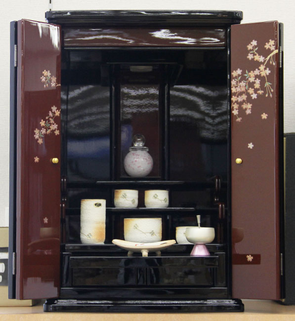 【家具調仏壇-KG017】13-20 雅アート しだれ桜