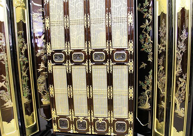 【金仏壇-KN008】金沢型軸開き70代