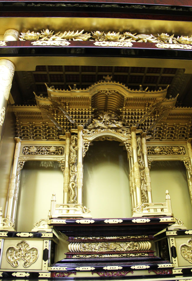 【金仏壇-KN016】40浄土総粉金三方開き